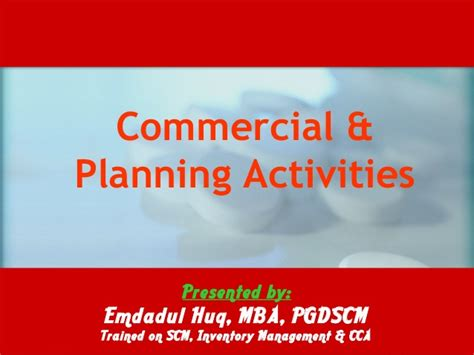 Cca Mba Review by Some Demonstration Of Commercial Planning Activities