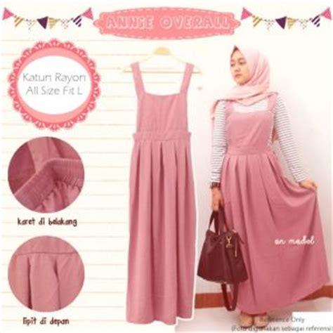 Baju Muslim Anak Cewek Gamis Overall Katun Garis Pineapple Kupu Setelan Jumpsuit Panjang Baju Model Terbaru Murah