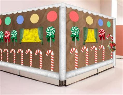 gingerbread house office cubicle decorations ideas for cubicle decorations lovetoknow