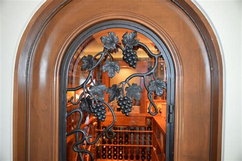 wine cellar doors residential custom wine cellar construction project