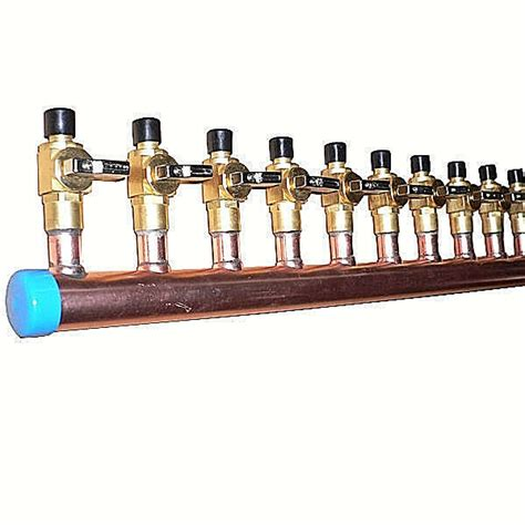 Copper Manifold Plumbing by 1 Quot Copper Manifold 1 2 Quot Pex Crimp Fitting With Without