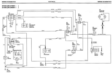 deere stx38 yellow deck wiring diagram free