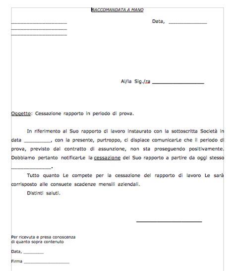 lettere di licenziamento fac simile lettera licenziamento firmakoek