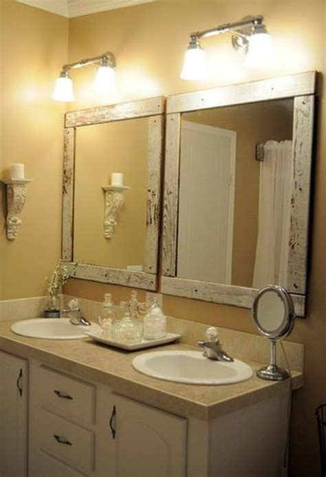 mirror frames for bathrooms how to build and decorate with rustic mirror frames