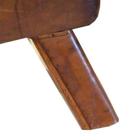 leather and wood bench wood and leather pommel horse bench at 1stdibs