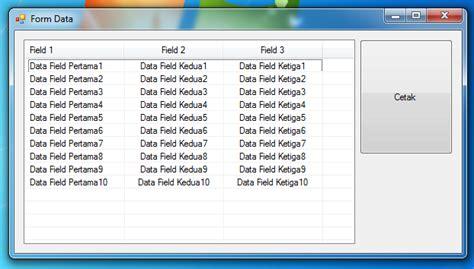 membuat database xml membuat laporan di crystal report dari data listview tanpa