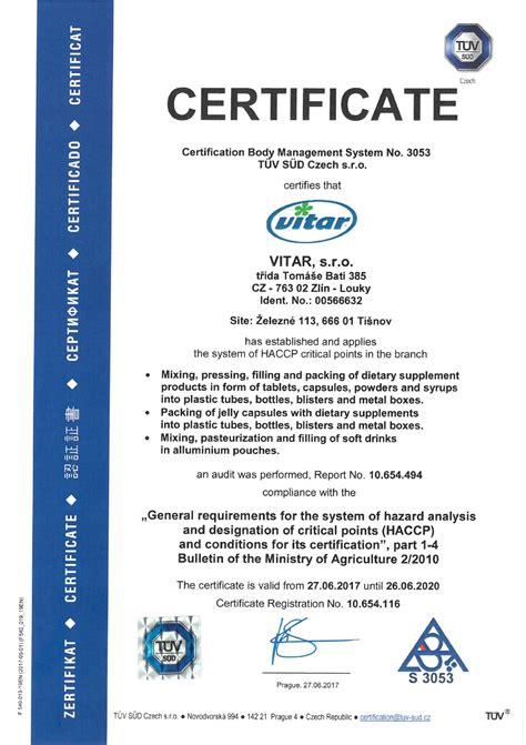 haccp certification letter matter of certificate gidiye redformapolitica co