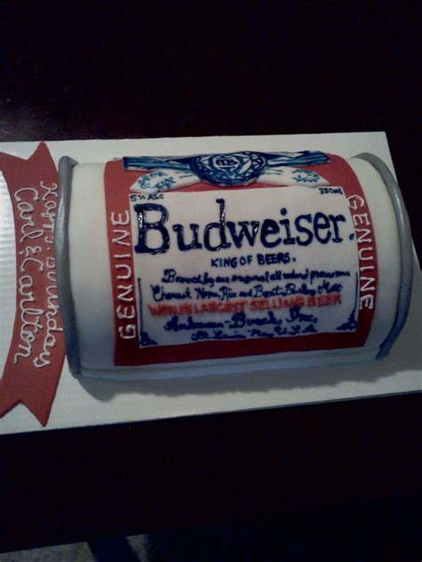 budweiser beer cake budweiser beer can cake my own cakes pinterest