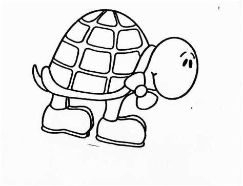 Turtle Cute Animal Pages Printable For Drawing Turtle Coloring Page
