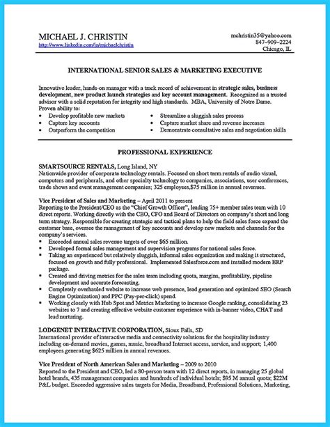 sample retail marketing resume sales and marketing sample resume
