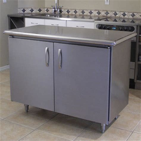 kitchen island with stainless steel top a line by advance tabco wayfair