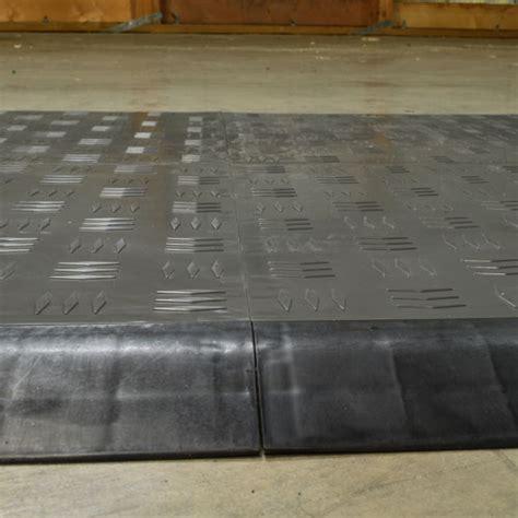 Click Tile Border Ramp   Court and Garage Floor Tile Edge