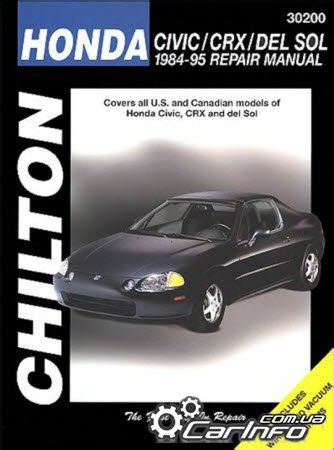 online service manuals 1984 honda cr x auto manual honda civic crx del sol 1984 1995 chilton service manual 187 автолитература руководства по