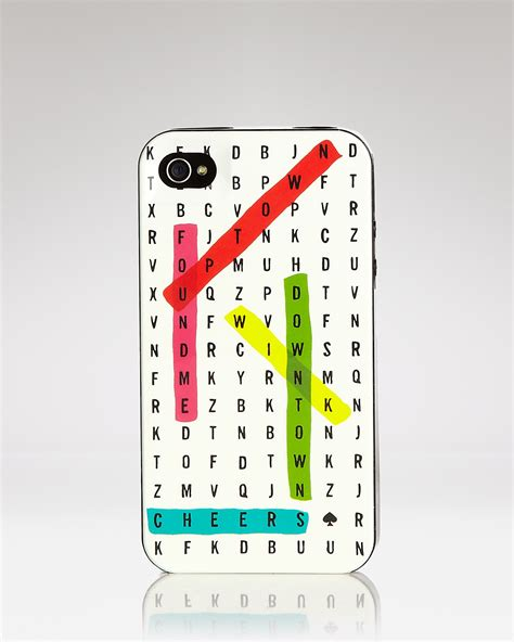 Kate Spade Word Search Kate Spade New York Iphone 4 Word Search Resin Bloomingdale S