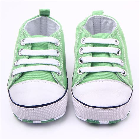 Baby Crib Sneakers Baby Boy Soft Sole Crib Shoes Infant Toddler Newborn To 12 Months Ebay