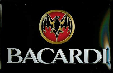 bacardi logo bacardi logo landscape embossed 3d metal pub sign gt pub