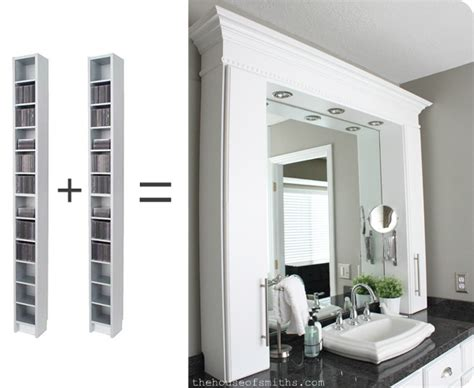someday crafts cd towers turned bathroom vanity storage
