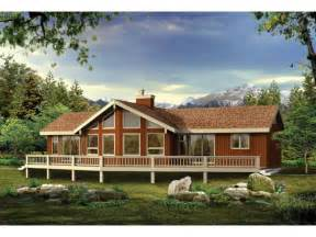 vacation cabin plans eplans a frame house plan a grand vacation or retirement