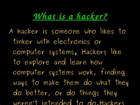 best hacker the best hacking ppt
