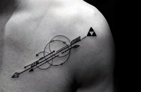 40 geometric arrow tattoo designs for men sharp geometry