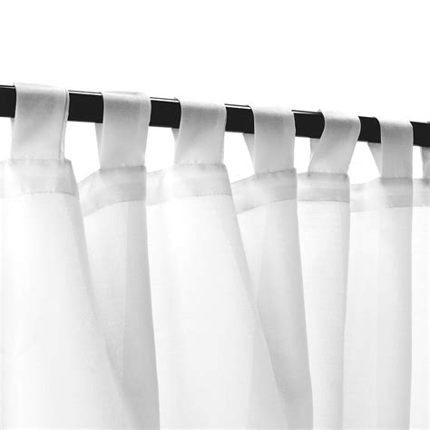 sheer white weathersmart outdoor curtain  tabs