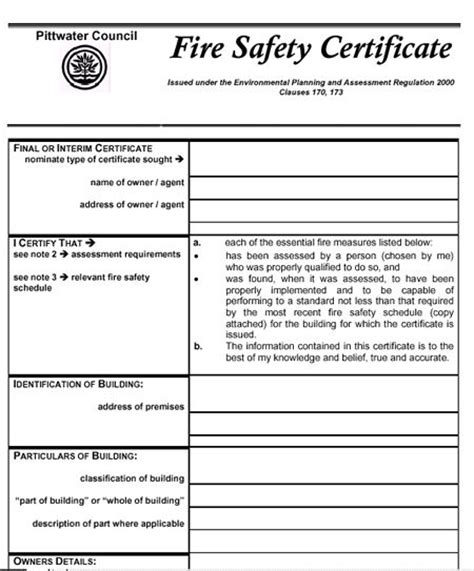 fire extinguisher certificate template targer golden