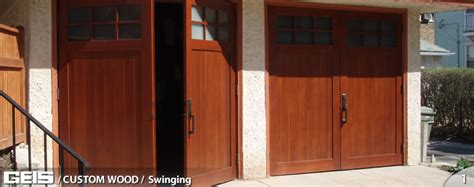 swinging door milwaukee swinging custom wood geis garage doors milwaukee