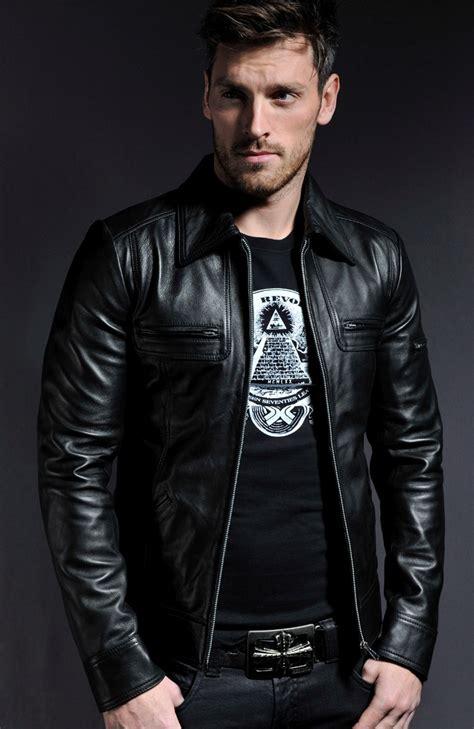 Jaket Kulit Synthentic Leather vintage mens leather jacket lynch soul revolver