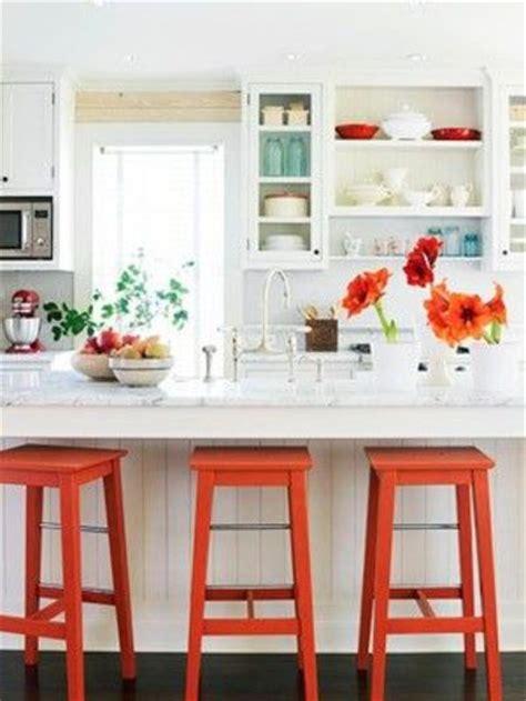 bright and fun orange room design fun white kitchen pops of orange and turquoise kitchen
