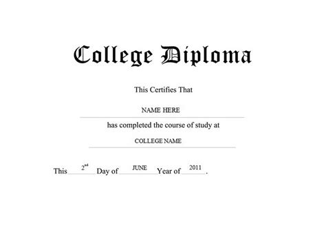 free college diploma template diploma free templates clip wording geographics
