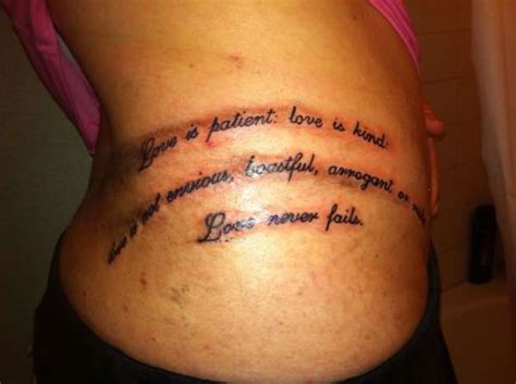 1 corinthians 13 4 tattoo