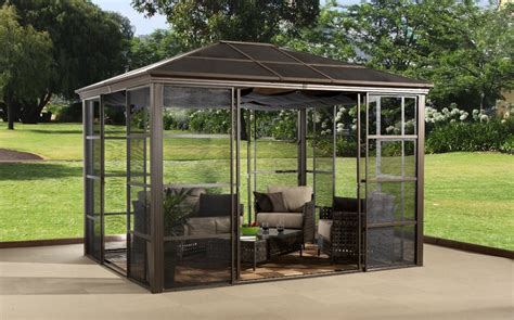 Patio Umbrella With Screen Enclosure Patio Enclosures Enhance Your Home And Your The Garden And Patio Home Guide