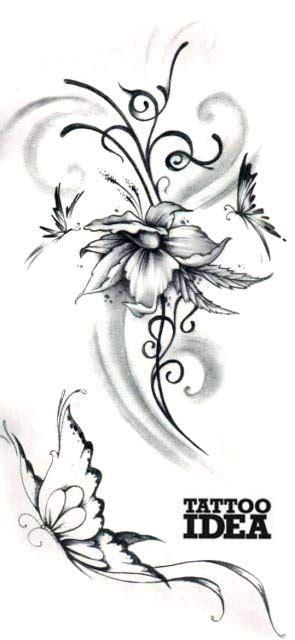 fiori tribali tatuaggi tatuaggi amo