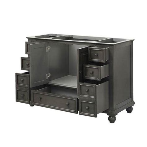 48 inch bathroom vanity cabinet only thompson charcoal glaze 48 inch vanity only avanity