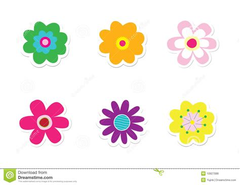 Aufkleber Blumen by Flower Stickers Stock Vector Illustration Of Children