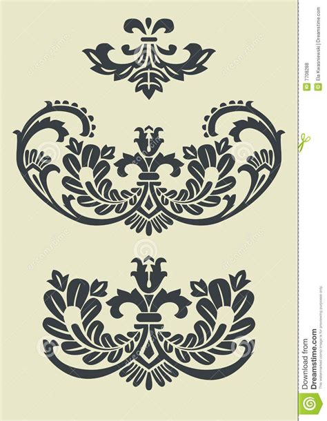 free baroque design elements vector set of vector baroque patterns for design royalty free