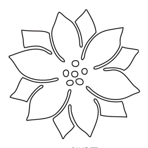 poinsettia leaves coloring pages poinsettia picture az coloring pages