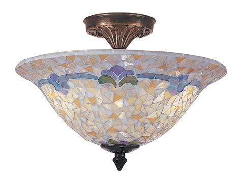 Mosaic Light Fixtures Dale Tm100553 Johana Mosaic Semi Flush Mount Ceiling Light Fixture