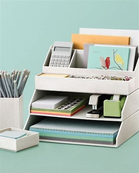 desk storage accessories 20 creative home office organizing ideas hative