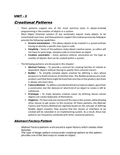 design pattern lecture notes design pattern notes nagpur university