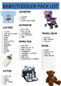 printable toddler packing list travel part 1 baby toddler pack list goodfoodclinic