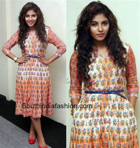 Maxi Anjali anjali in a printed dress south india fashion