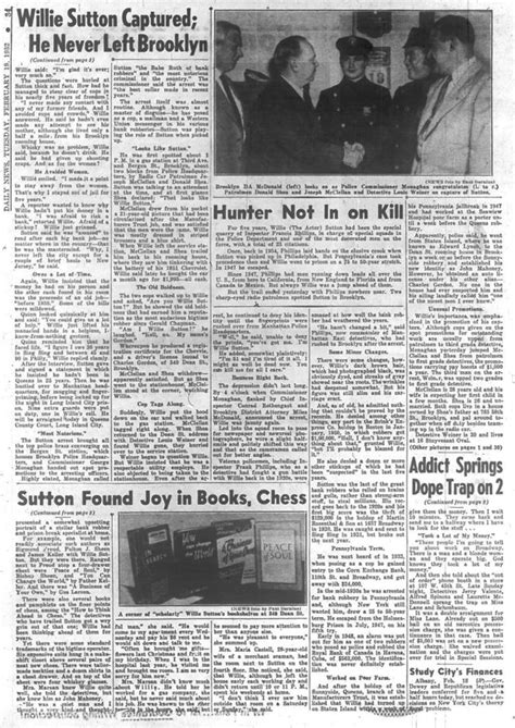 The day bank robber Willie Sutton was arrested in 1952