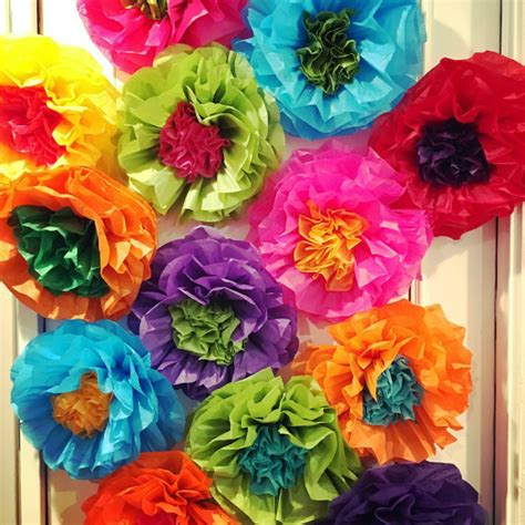 How To Make Mexican Decorations With Tissue Paper - mexican tissue paper flowers photo wall wedding