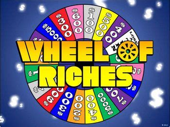 Wheel Of Riches Powerpoint Template Plays Just Like Wheel Of Fortune Ppt