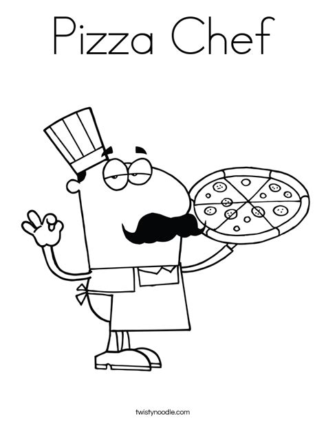 pizza coloring pages preschool pizza chef coloring page twisty noodle