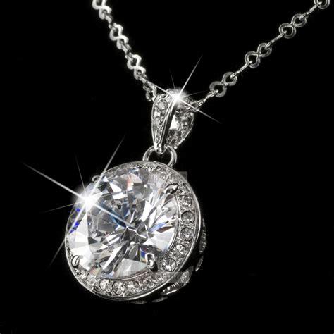18k gold gp made with swarovski pendant necklace