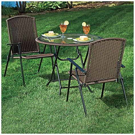 Patio Dining Sets At Big Lots View Wilson Fisher 174 Resin Wicker 3 Folding Dining