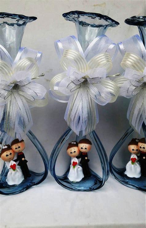 hermoso centro de mesa boda florero vidrio soplado novios florero vidrio soplado novios centro de mesa 73 00 en