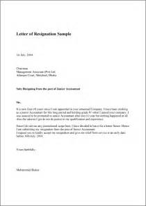 Resignation Letter Meaning by Letter Of Resignation Sle Template Exle And Format Khiehoshie